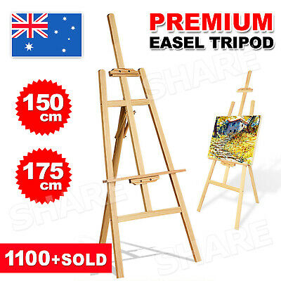 Pine Wood Easel Artist Art Display Painting Shop Tripod Stand Wedding 150/175CM