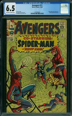 AVENGERS #11 CGC 6.5 Early Spider-Man app!