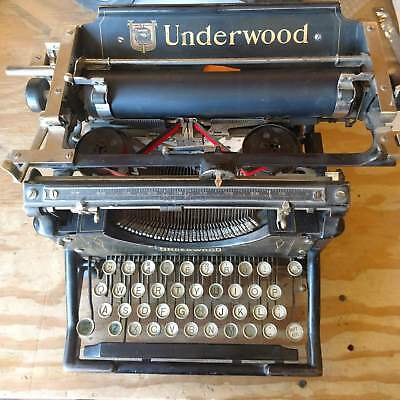 1908 Antique Underwood Standard No. 4 Typewriter SN# 192535 Vintage 1900s 1907
