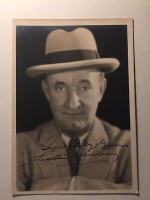 Charles Murray Very Rare Early Vintage Autograph Mack Sennett Vamping Venus