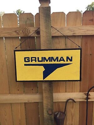 Grumman Painted Wood Sign  garage decor Aircraft Boat Ship signs