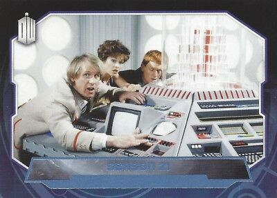 Parallel Base Card Blue 186 #078/199 Season 21 5th Fifth Doctor Who 2015 Topps