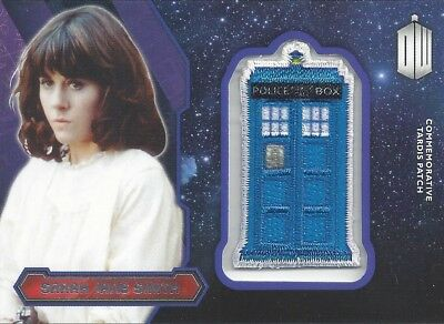 Patch Silver Foil Tardis Sarah Jane Smith Commemorative Doctor Who 2015 Topps