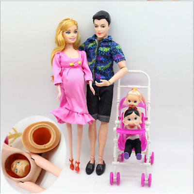Dolls Family Educational Real Pregnant Doll Happy Family for Barbie Gift Xams AU