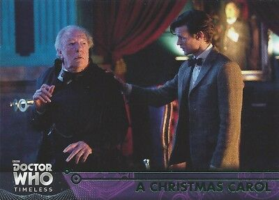 GREEN Parallel 76 A Christmas Carol 11th Doctor Who Timeless 2016 Topps Smith