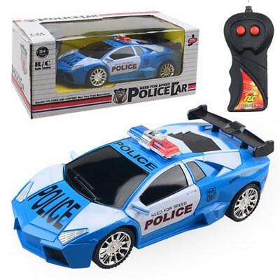 Kids Toy Gift RC Car 2WD Remote Control Police Car Cacer Children Toys