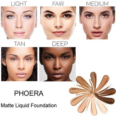 PHOERA Foundation Makeup Full Coverage Fast Base Brighten long-lasting Shade SS