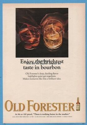 1966 Old Forester Whisky Enjoy the brightest taste in bourbon Brown Forman ad