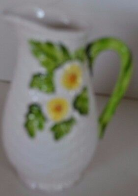 Vintage Lefton China Rustic Daisy Flower Small Pitcher