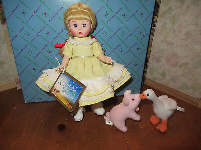 MADAME ALEXANDER CHARLOTTE'S WEB WENDY DOLL FRENCH BRAIDS Goose Pig 8""