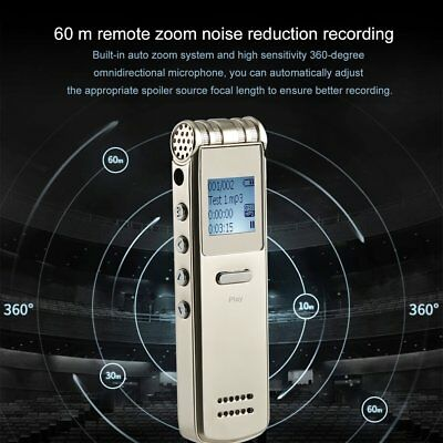 8GB Rechargeable Digital Sound Voice Recorder USB Dictaphone MP3 Player UK