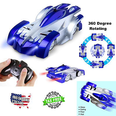 Rechargeable Wall Climber RC Racer Radio Remote Control 360° Rotating Racing Car