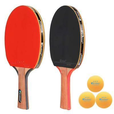 2-Pack KEVENZ Table Tennis Ping-Pong Racket Paddle Long Haddle Rackets Paddles
