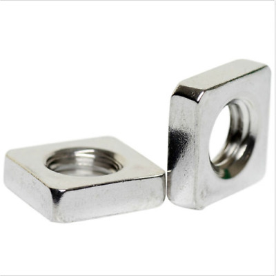 50pack M3 M4 M5 M6 M8 M10 A2 STAINLESS STEEL SQUARE NUTS DIN 562