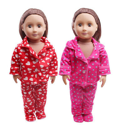 Cute Pajamas Nightgown Clothes For 18 inch American Girl Doll