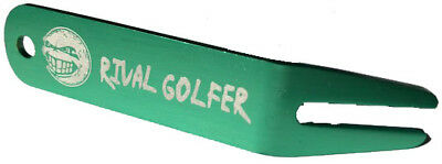 'Unruly' Anodized GREEN Divot Tool by Rival Golfer