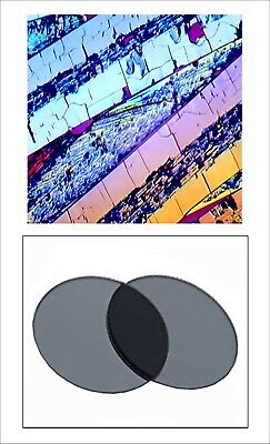 V00. Two  25.4mm Linear Polarizing Filters Microscope Optical Devices