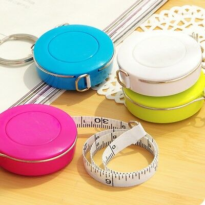 Retractable Tape Measure Key Ring Double-Scale Body Measurement Craft Ruler 60''