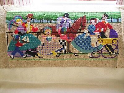 Beautiful Vintage Embroidered/tapestry Wool Work