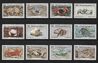 CHRISTMAS ISLAND 1985 Crabs, series 1 2 3, mint set of 12, MNG