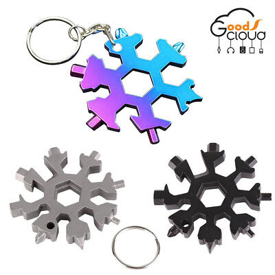 Portable 18 In 1 Multi-tool Card Combination Compact Outdoor Snowflake Stainless