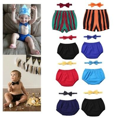 Baby Boys First Birthday Outfit Bloomers Diaper Cover Shorts Costume Photo Props