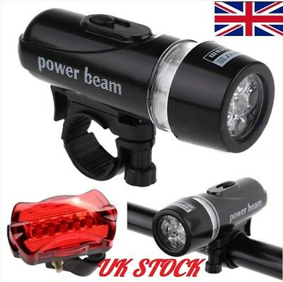 Cycling Bicycle Light Set Ultra Bright 5 LED Bike Front Head Light Lamp R0L4