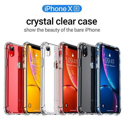 ShockProof Bumper Transparent Sillicone Case Cover For iPhone XR X 6s 8 7 XS Max