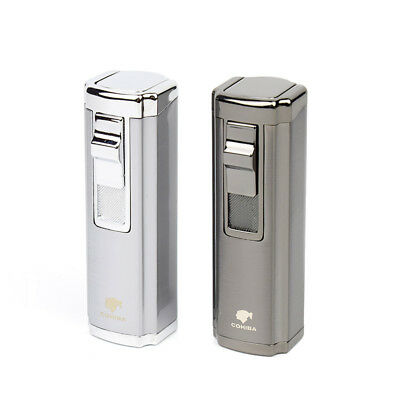 COHIBA Portable Windproof Tobacco Herb Smoke Refillable Jet Lighter