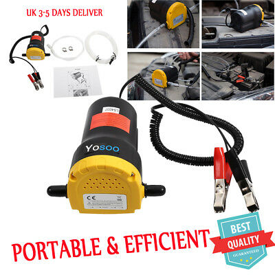 Car Mini 12V 60W Electric Fluid Extractor Oil Diesel Transfer Pump Siphon Clean