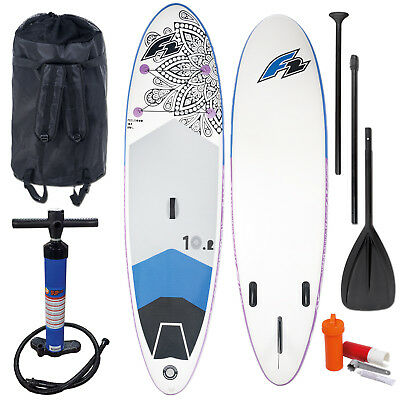 "F2 Sup Feelgood 10,2"" 2018 Stand Up Paddle Board Aufblasbar + Testboard"