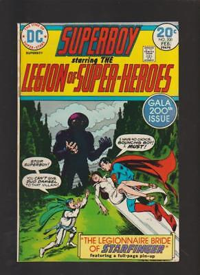 Superboy & The Legion Of Super Heroes # 200 Supergirl Cameo Key Very Fine