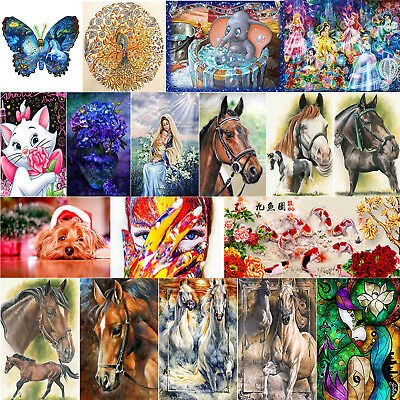 Animal 5D DIY Full Drill Diamond Painting Embroidery Cross Stitch + Drawing Tool