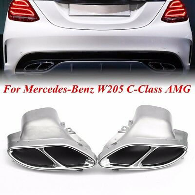 Exhaust Muffler Pipe Chrome For Mercedes-Benz AMG W205 C-Class C250 C300 C450 UK