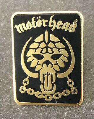 Motörhead Very Rare Enamel Pin Badge - Gold Lemmy