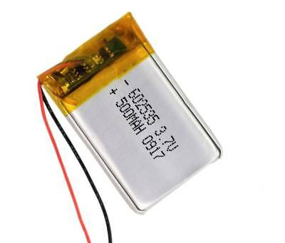 1PC 602535 3.7V 500mAh LiPo Battery Rechargeable For Bluetooth Speaker DVD GPS