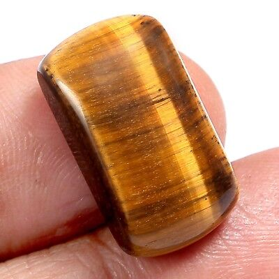 100%Natural Tiger's Eye Cushion Cabochon Gemstone yellow shine 18.05 cts