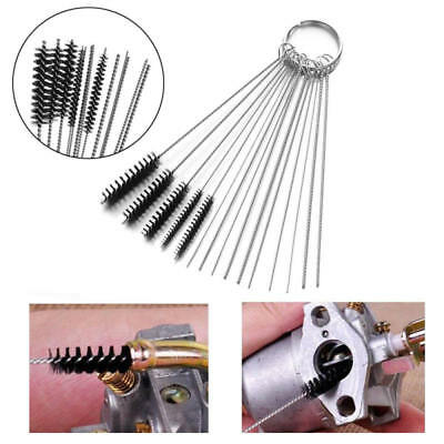 15PCS Carb Carburetor Cleaning Kit Cleaner Brushes Small Wire Motorcycle Part