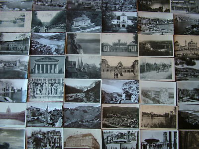 100 Old B&W FOREIGN/ OVERSEAS Postcards. Standard size. Mainly 1930's - 1960's.