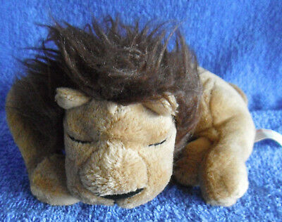 *1802*  Lion Sleeps Tonight - Scholastic - 14cm - Plush brown toy - rare