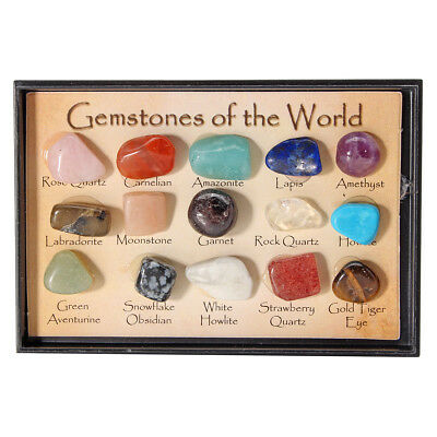 Rock Collection Mix Gems Crystals Natural Teaching Mineral Ore Specimens Decorat