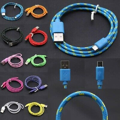 Long Micro USB Cable, 1M 2M 3M High Speed Data Sync Fast Charger Braided Lead