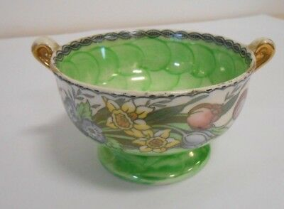 Maling Green Pearl Floral Decorative Bowl