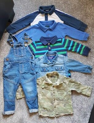 Boys next 12-18 months Bundle Winter Long Sleeved Dingarees