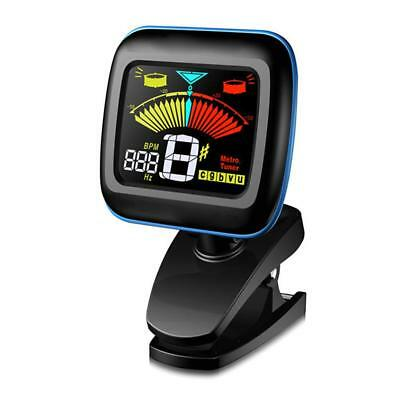 Clip-on Chromatic Tuner & Metronome: Acoustic/Electric Guitar Bass Violin Ukulel
