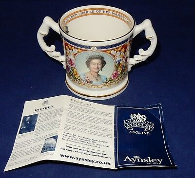 Aynsley  Bone China Loving Cup Queen Elizabeth Golden Jubilee