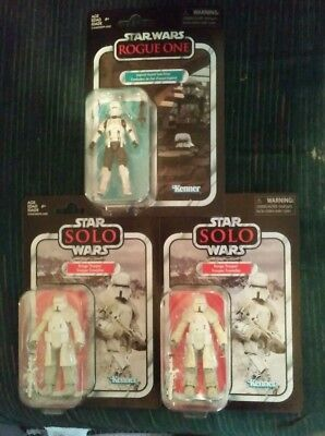 Star Wars Vintage Coll. Lot of 3. 2 Range Troopers & 1 Assualt Tank Driver.