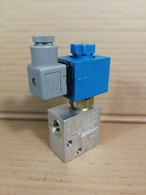 "EDI Solenoid Operated N/O Seated Valve OD15311837 24VDC 210BAR 1/4""BSP Ports *"