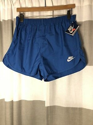 Vintage 80s NWT Nike Running Shorts Blue Rare Navy Tag Mens Large