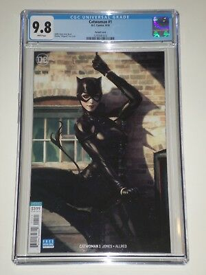 Catwoman 1 (2018) CGC Graded 9.8 Artgerm Variant Cover